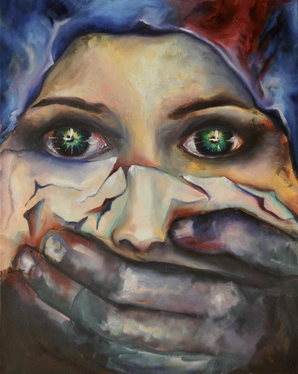 Tribute to Malala  Oil on Linen 50 x 40 cm  2012