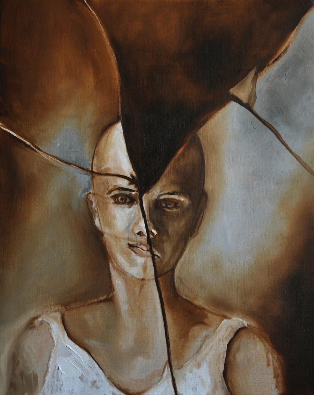 Mirror Mirror  Oil on Linen 50x 40 cm  2012