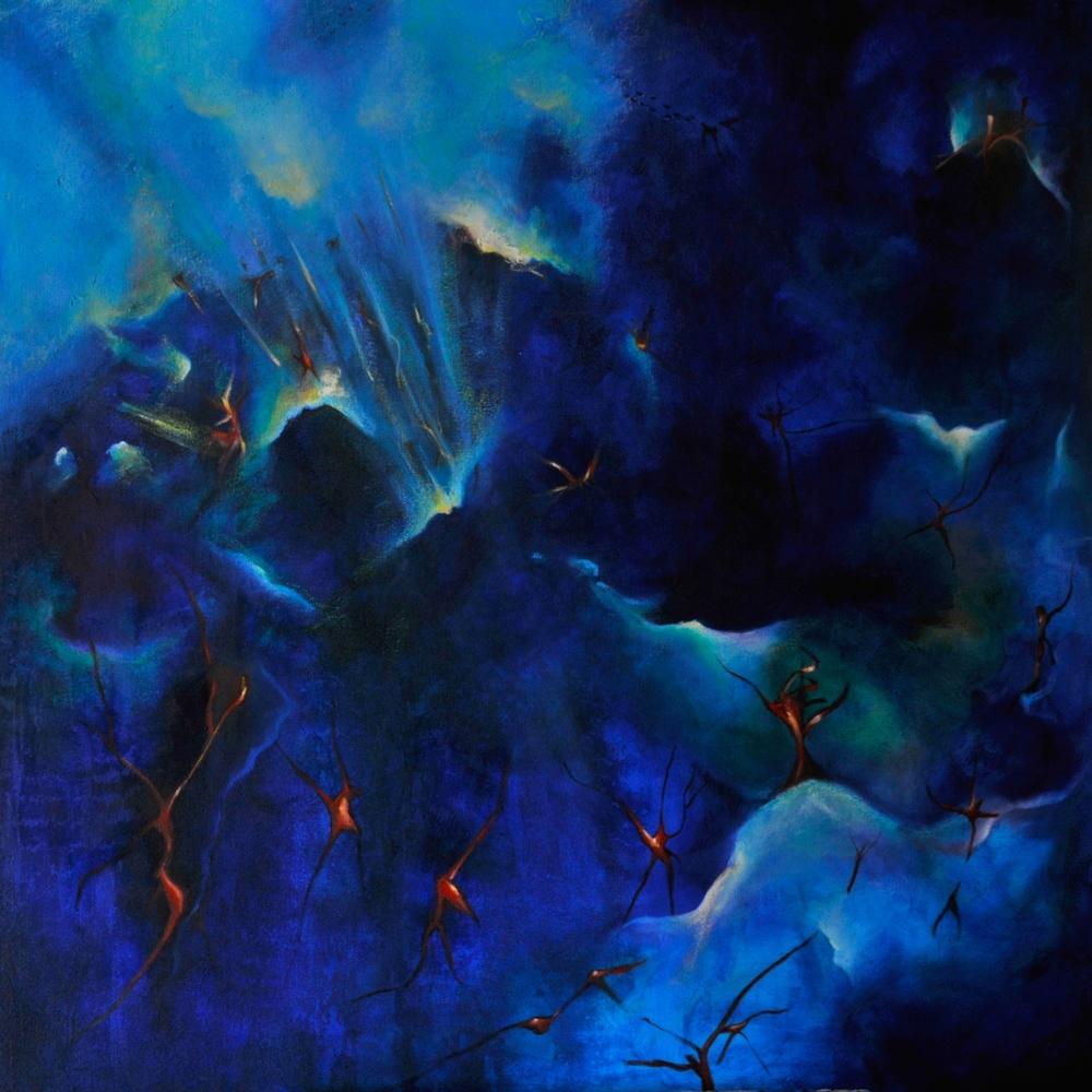 Interplanetary  /Oil on canvas 100 x 100 cm  2013