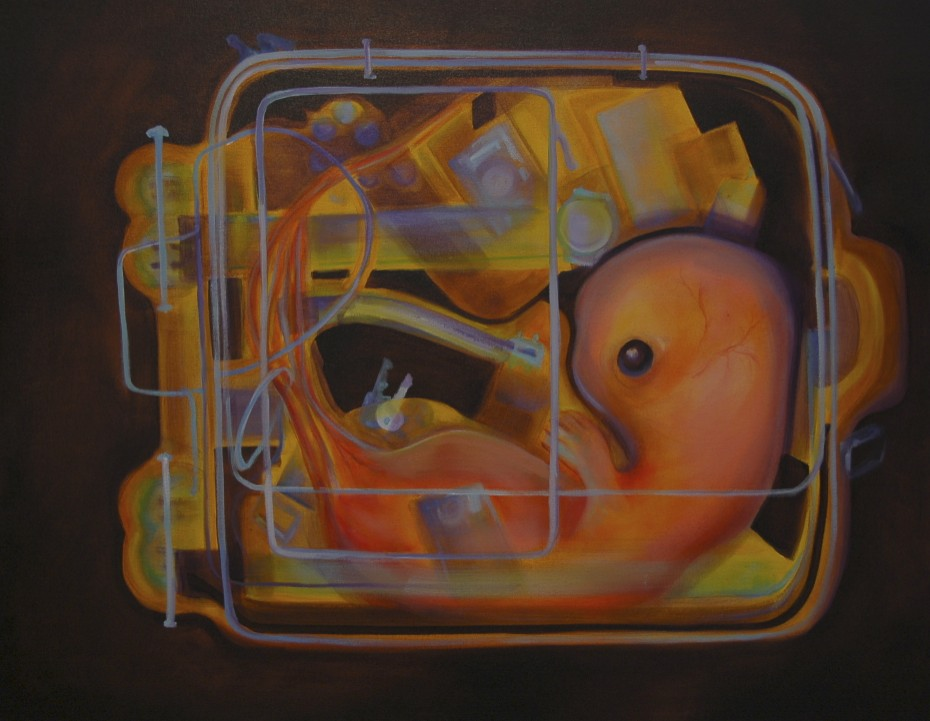 Change and Rebirth  /Oil on canvas 100 x 90 cm  2009