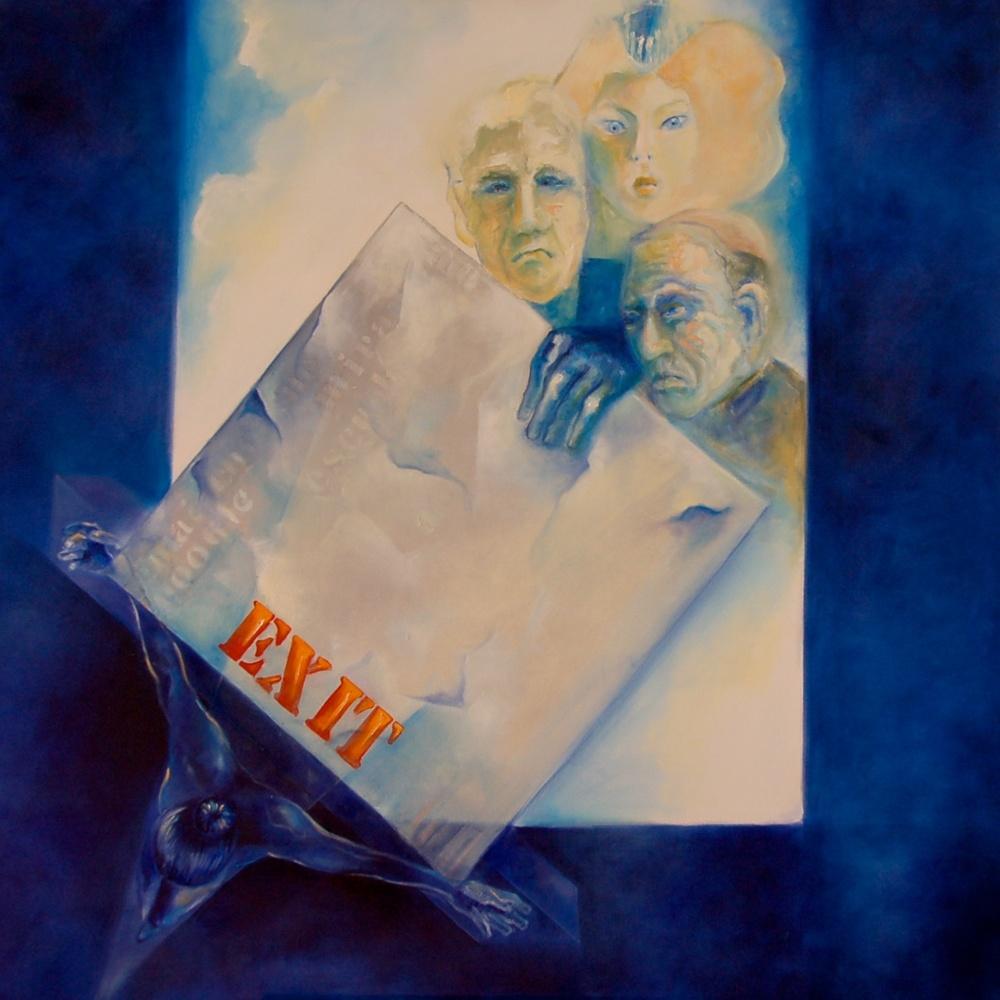 Window to Heaven /Oil on canvas 130 x 130 cm 2008