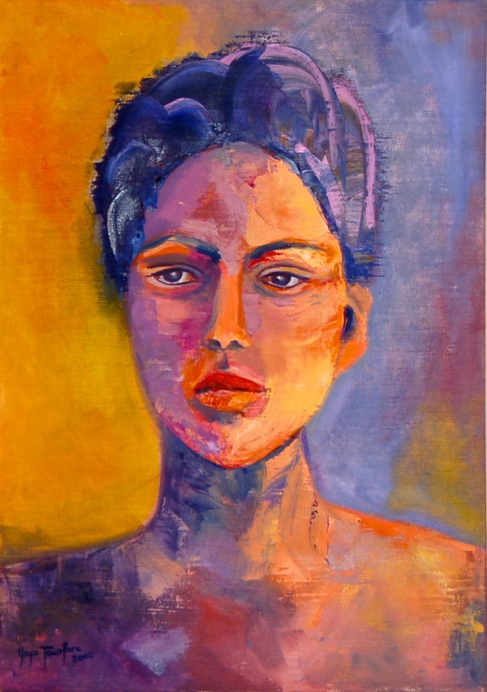 Trust  Acrylic on canvas 50 x 35 cm  2002