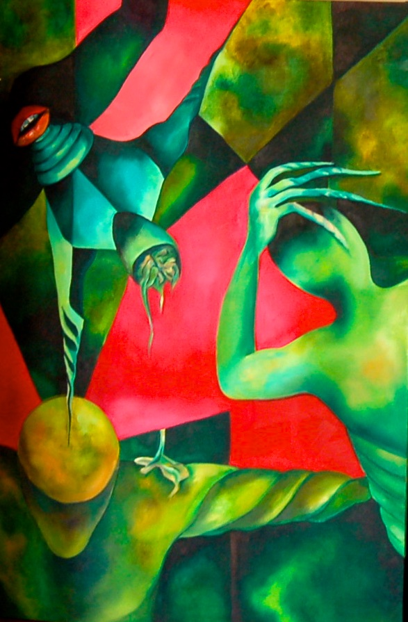 Crisis  /Oil on canvas 130 x 100 cm  2004