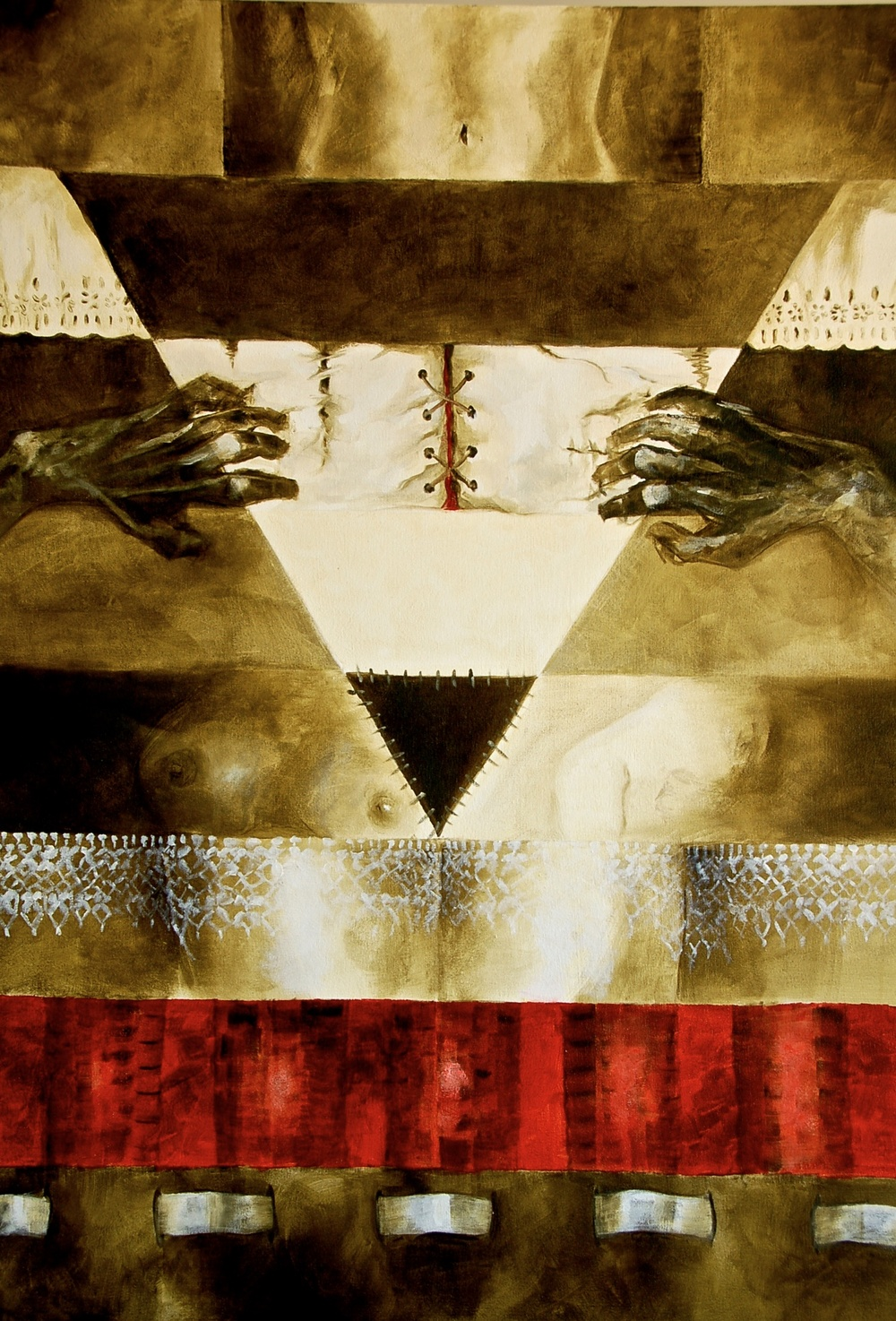 Visceral  /Oil on canvas 120 x 90 cm  2009