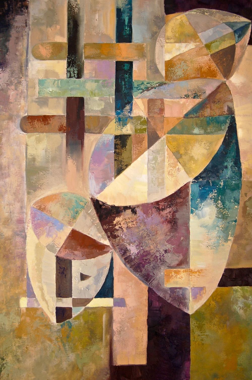Geo-me-trio  /Oil on canvas 120x 100 cm  2004