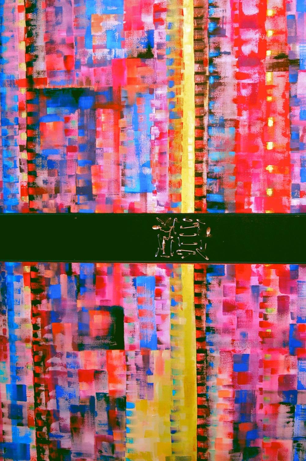 Tejido  /Acrylic on canvas 200 x 120 cm  2005