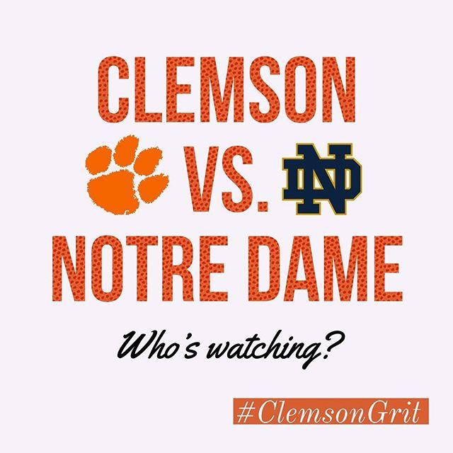 Let's Go @clemsonmbb! 🏀 #beatnotredame