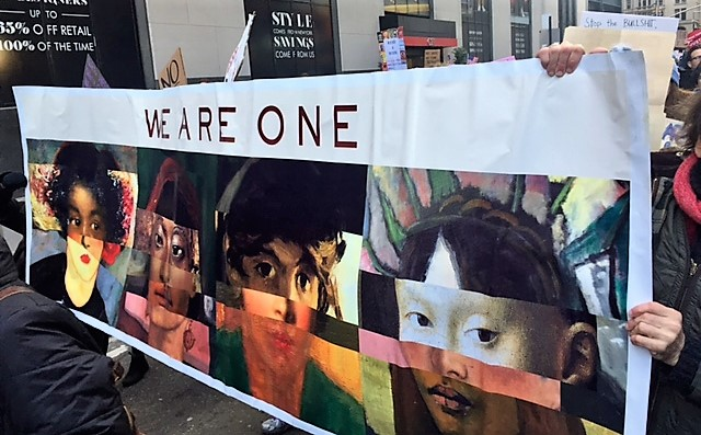 """""""We are one."""" Battery Park Immigration March: Sunday – January 29, 2017"""