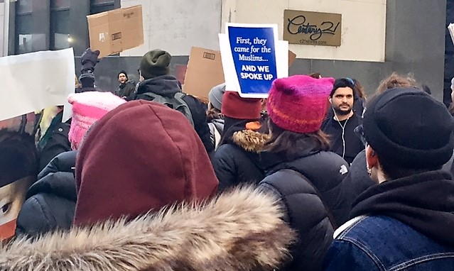 """First they came for the Muslims...AND WE SPOKE UP."" Battery Park Immigration March: Sunday – January 29, 2017"