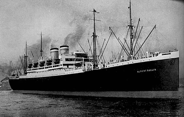 Photo of the Albert Ballin, the ship my grandmother took from Germany to Ellis Island on February 24, 1928, to become an American citizen. ***By September 14, 1930, the Nazi's would rise to become the second largest political party in that country.