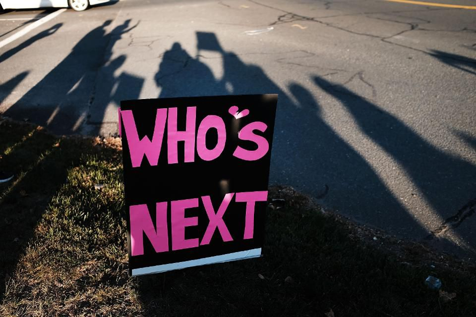A sign seen after the Sandy Hook Elementary massacre on December 14, 2012. Photo Credit: Forbes Magazine