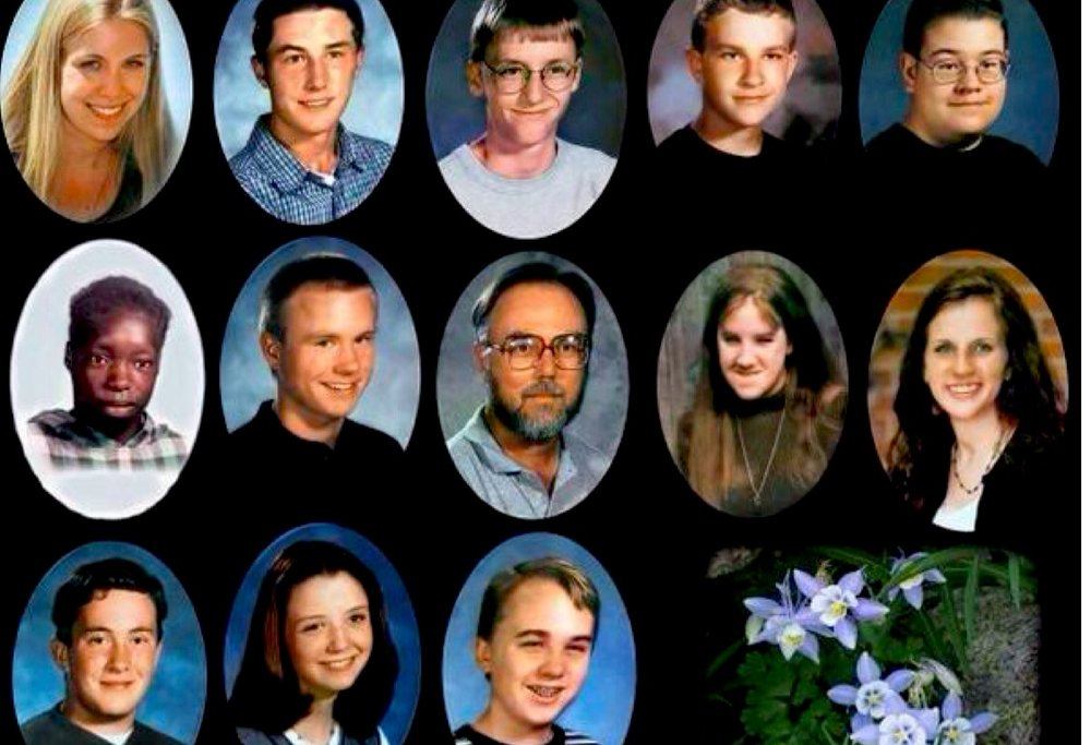 The victims of the Columbine High School school shooting in April 20, 1999. Most of these students were shot in the library. Along with the deaths, 24 more were injured.