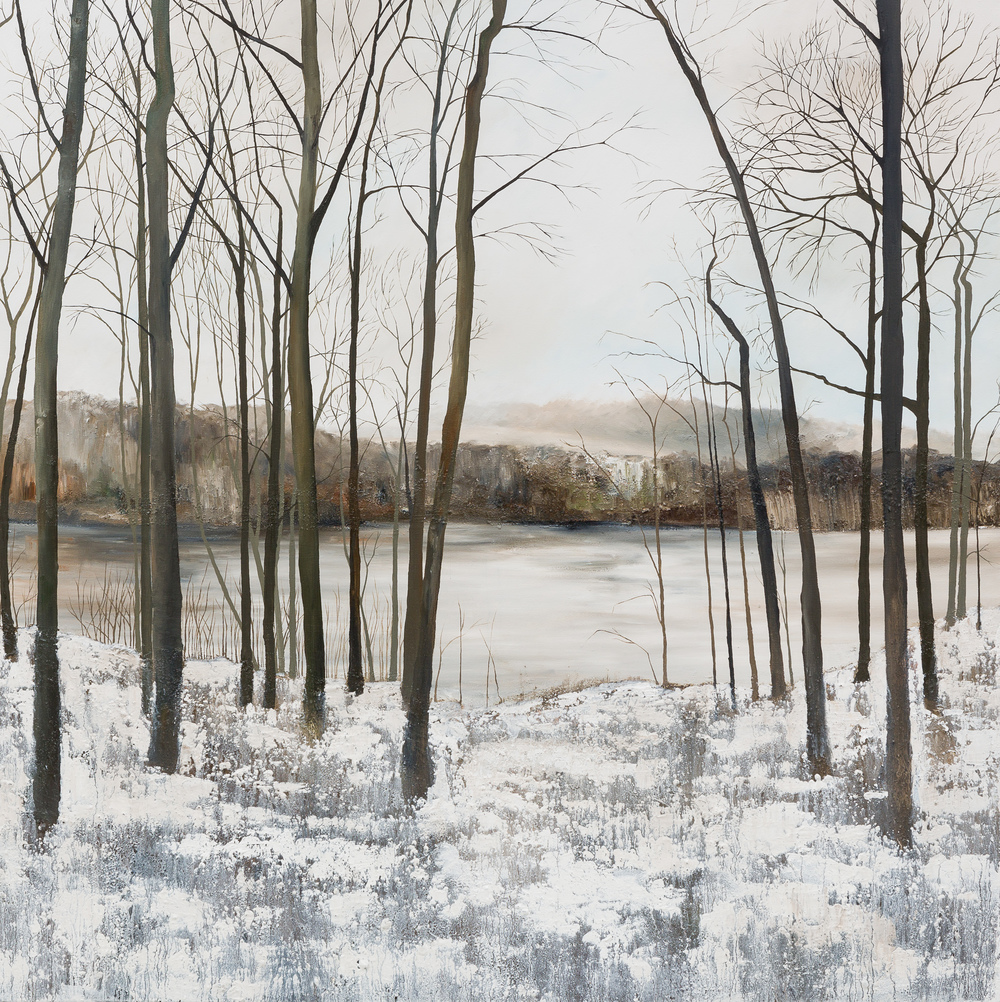 White earth, and ruins, ourselves and nothing besides..... Oil and mixed media on canvas 120x120cm