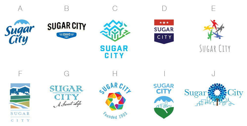 Initial Design Options - Another survey to elicit which logo directions elicited the best response from residents.