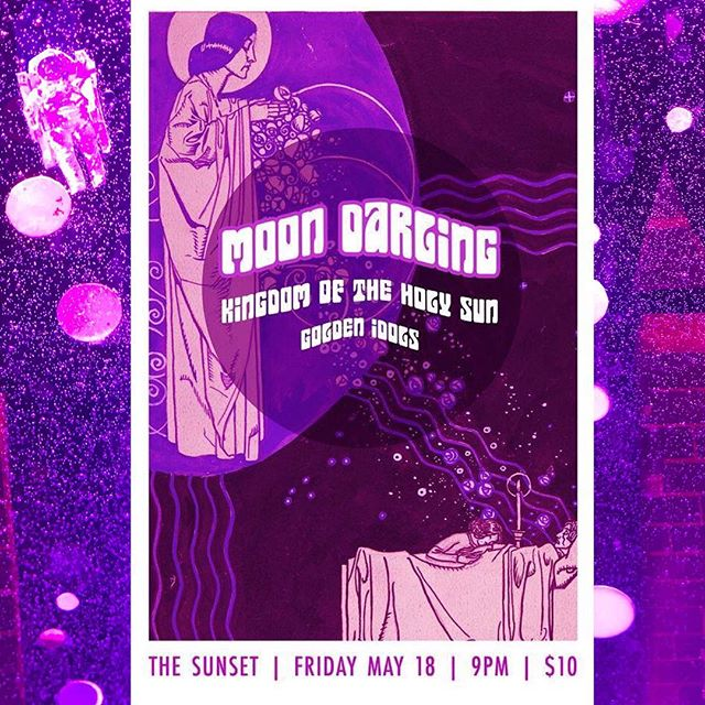 We play our favorite place, @thesunsettavern next week with the talented bands @moondarlingband and @kingdomoftheholysun! Come join us!