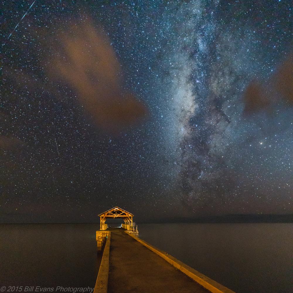 Kauai Waimea Pier Milky Way