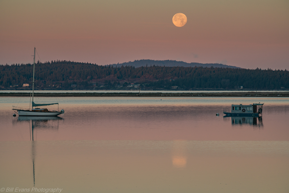 Full Moon over Fisherman Bay on Lopez Island (26 November 2015) Sony A7Rii 1/80 @ f/? iso 400