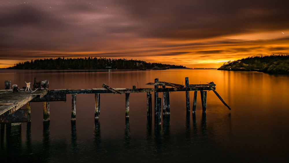 Old Richardson Fuel Dock, Lopez Island WA, 16 March 2016 Sony A7Rii + Nikon 20mm/1.8 185s @ f/? iso 400