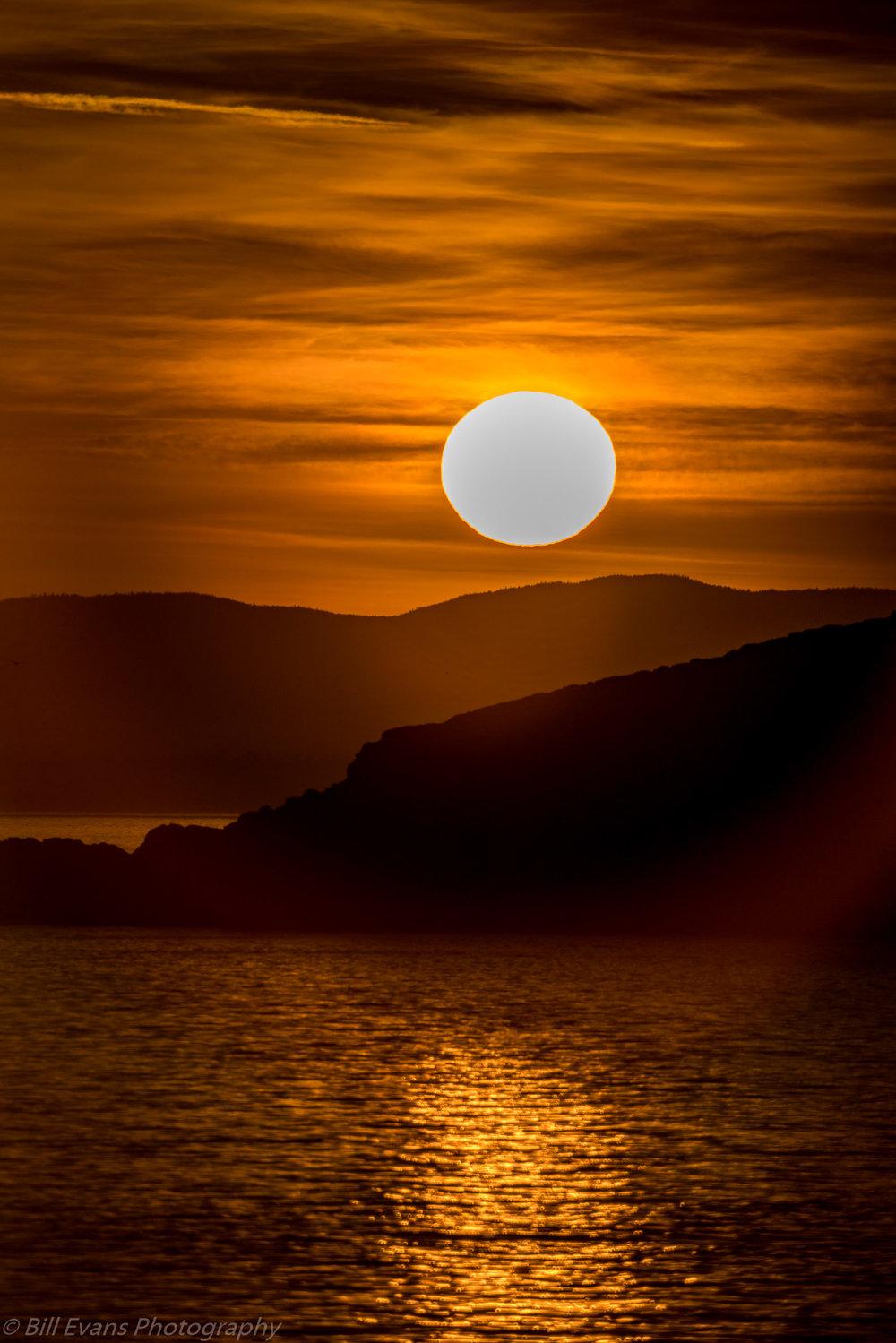 Image No. 8 - Sunset from Grandmas Cove (San Juan Island, WA)   Sony A7Rii + Sony 500mm Reflex (1/8000s @ f/8 iso 100)