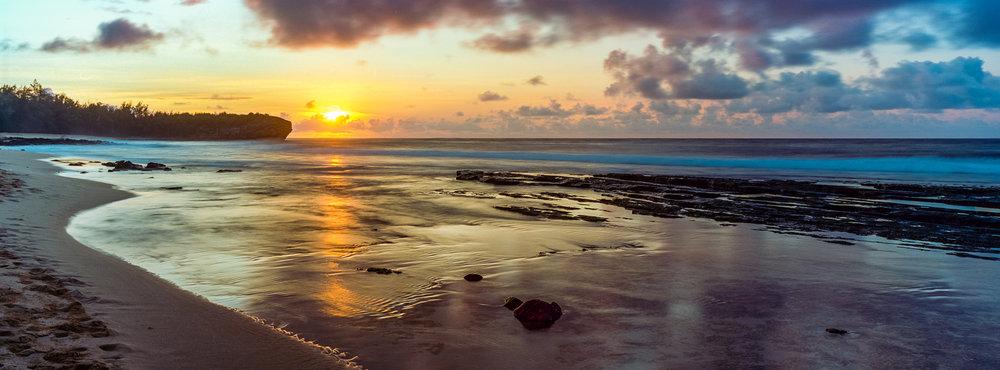 Shipwreck Beach -Sunrise - Poipu, Kauai HI Hasselblad Xpan + Kodak Ektar 100