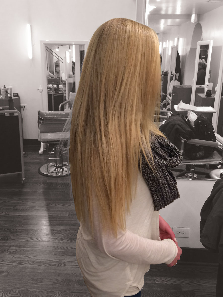 """""""I have been going to Brooke for 15 years, and she is quite honestly, the BEST! She first put extensions in my hair about a year ago, and they are incredible. Not only did Brooke perfectly blend the color of the extensions to my hair, but the quality is unreal. Brooke is fantastic! I wouldn't trust my hair with anyone else."""" -Taylor"""
