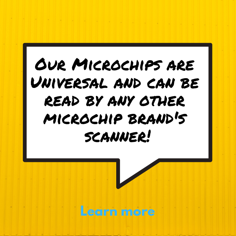 Our microchips CAN be read by all microchip scanners. -