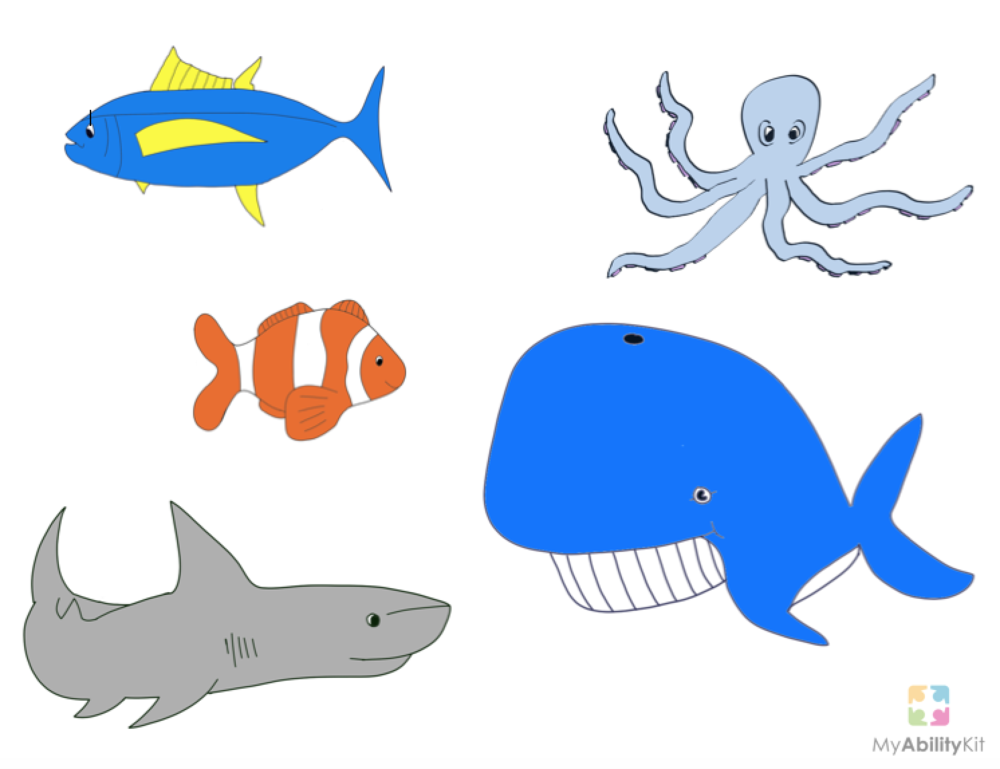 Song visual aids myabilitykit autism resources for Fish songs for preschoolers