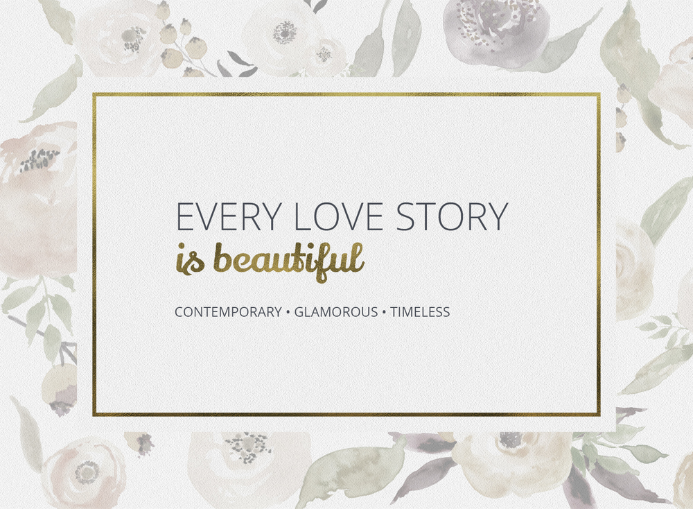 Every love story is beautiful banner
