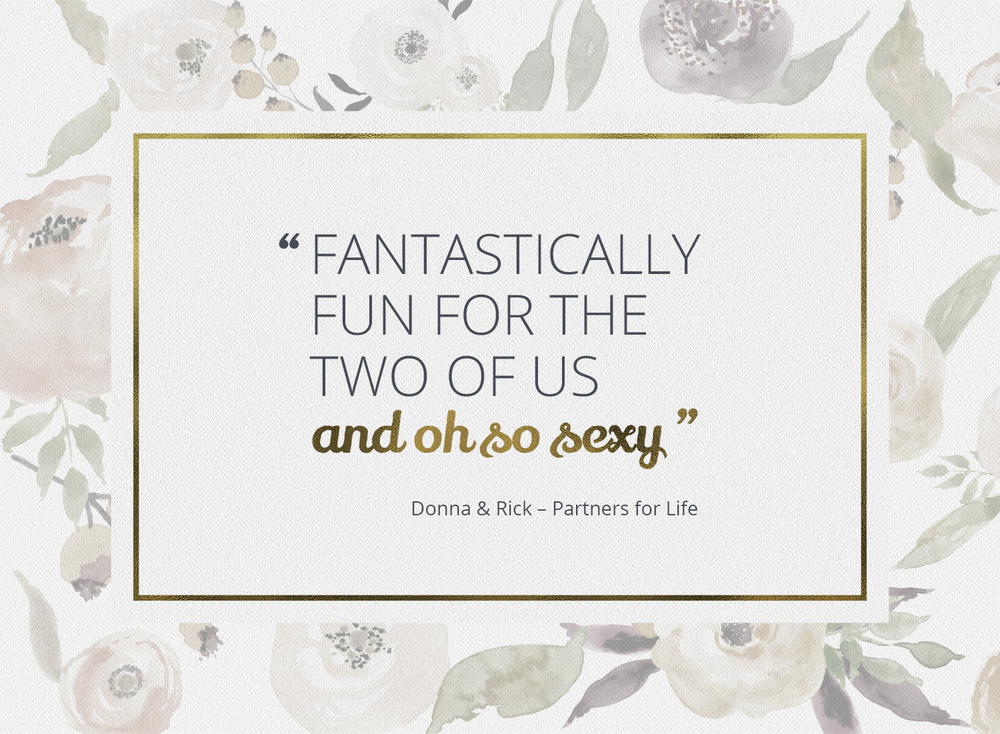 Boudoir quote by Donna & Rick