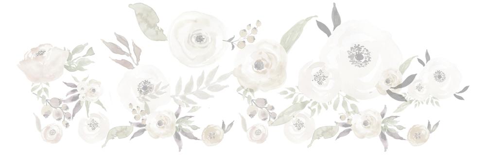 watercolour flowers design element