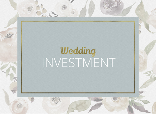 Wedding Investment page like
