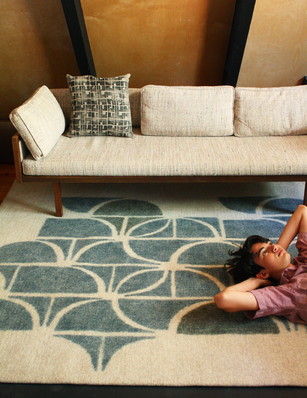 PICTURED: SLICE RUG PHOTO CREDIT: PEACE INDUSTRY