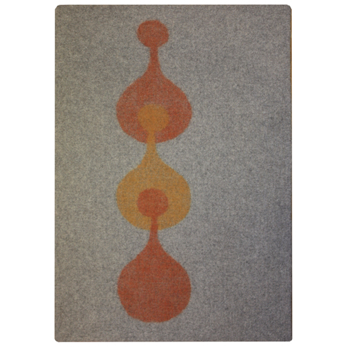4x6  gray/saffron/ochre