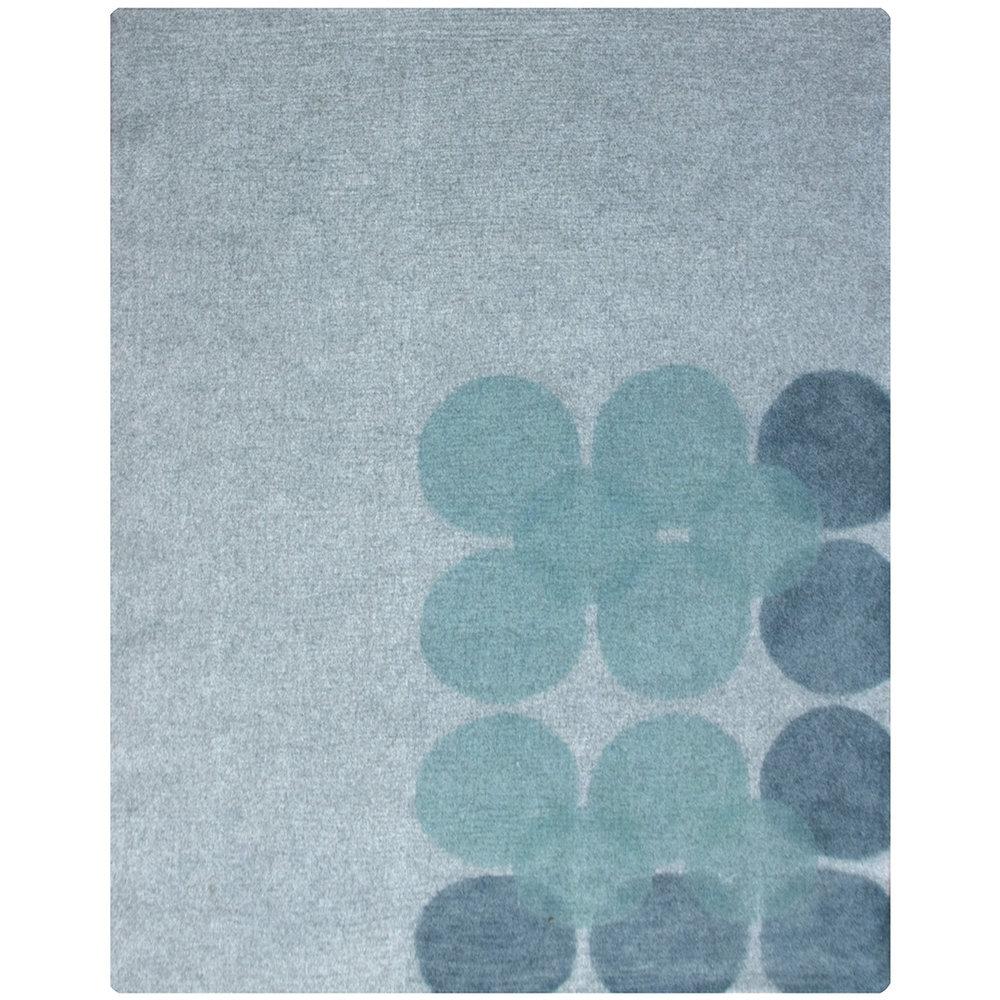 8'x10'  gray/aqua/marine