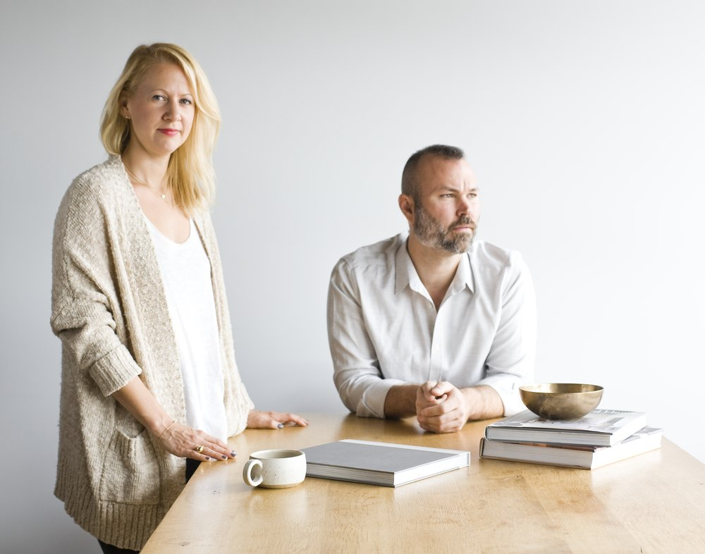 Krista Schrock and David John Dick, principals of Disc Interiors, a Los Angeles design firm.