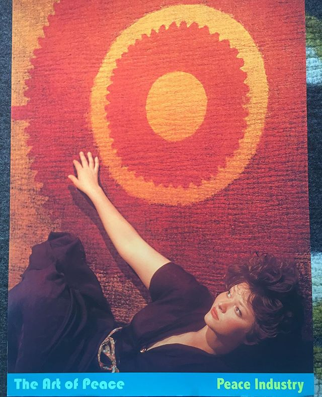 Vintage Peace Industry poster with #srkrebs. #vintageposter #theartofpeace #peace #felt #rugs