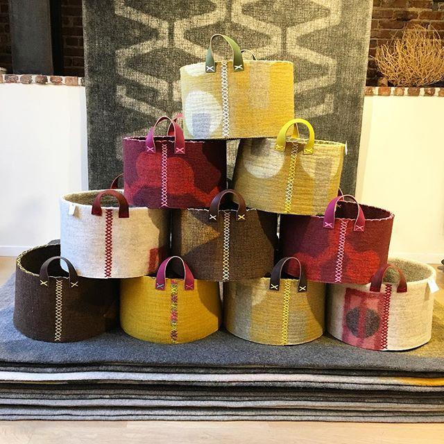 A fresh batch of baskets, now up on the website. #handmade #sfmade #woolfelt #peaceindustry