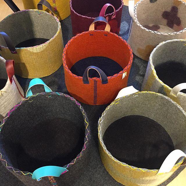 ... fresh out of makers hands, delicious as ever... #basket #hamper #handmade #handfelted #woolfelt #craftrevival #lovecolor #felt #chemicalfree #sanfrancisco #bayarea
