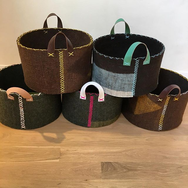 "5 new baskets uploaded to the shop page on the website. They were supposed to go to Stockholm but we get them instead! 12""h x 20""w. $325 each. #lastones"