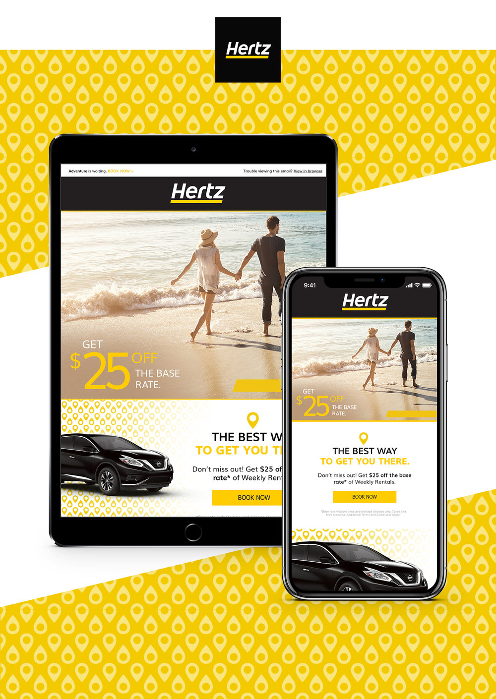 HERTZ CAR RENTAL BRAND REFRESH