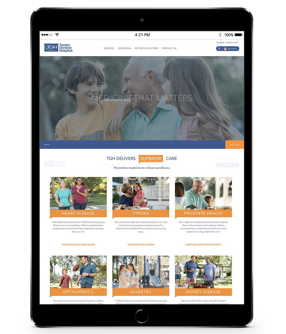 TAMPA GENERAL HOSPITAL :: TGH DELIVERS LANDING PAGE