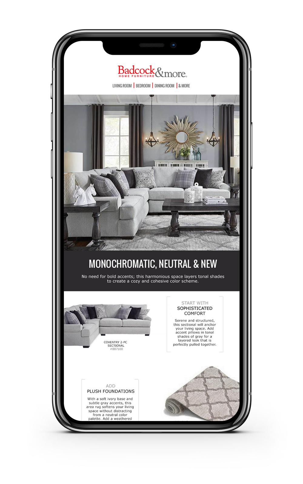 BADCOCK FURNITURE & MORE EMAIL CAMPAIGN :: LAYOUT + DEVELOPMENT