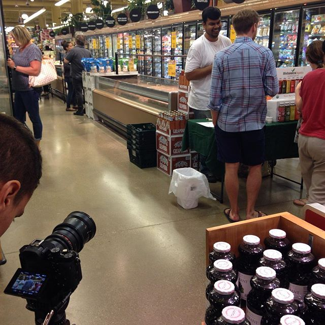 Filming at our tasting @wholefoodschi in preparation for our #crowdfunding campaign launching in September! Get updates at itsLifeBasics.com (link it bio)  #beefriendly #organic #wholefoods #wholefoodsmarket  #chicago #tea #icedtea #teas #nongmo #kickstarter #indiegogo #wellness #healthydrinks #fairtrade #nongmoverified #certifiedorganic #summertimechi #southloop #chicagofoodauthority #chicagoeats #chicagofoodie #fitness #fit #yoga #ayurveda #knowledge #international #local #honey