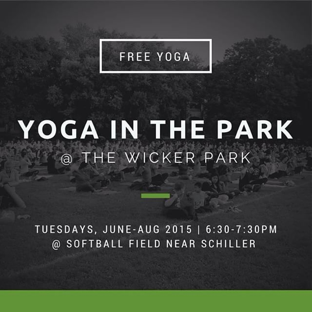 FREE OUTDOOR YOGA TONIGHT at 6:30pm at The Wicker Park in #Chicago!  We will be giving out free 100% #nonGMO, #organic, #fairtrade, #beefriendly iced teas! *Free community #yoga event runs Tuesdays, June through Aug 2015. Organized by Wicker Park Advisory Council and sponsored by @lululemon @itslifebasics @twomomsintheraw @mammachia and more.  #yogalove #yogaeverywhere #yogalife #sweatlife #yogapractice #yogagram #yogafit #fit #yogafun #yogachicago #chicagoyoga #yogalover #yogatime #yogadaily #yogaflow #yogalifestyle #yogacommunity #yogafamily #fitness #conscious #exercise #love