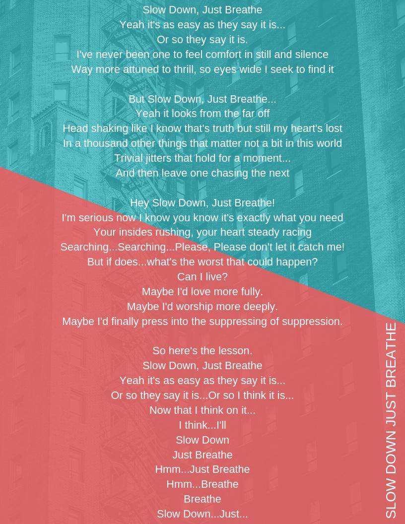 Kyle Ogle/ Spoken Word Poem