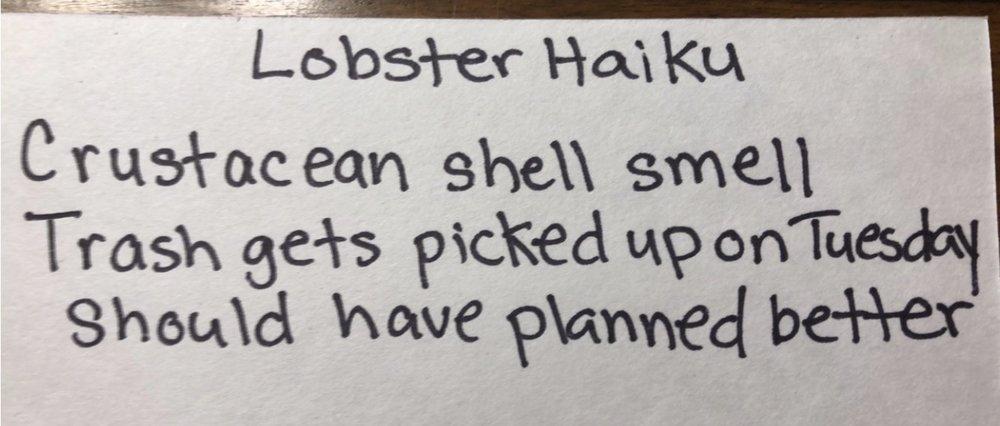 Amanda Fathaeur/ Lobster Haiku