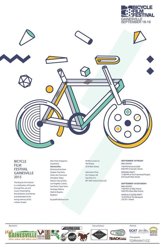 Bicycle Film Festival poster (via the event's Facebook page)