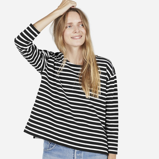 The Boxy Striped Tee via  Everlane .