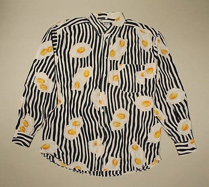 Vintage Moschino Fried Egg Shirt (image via  anothermag.com )