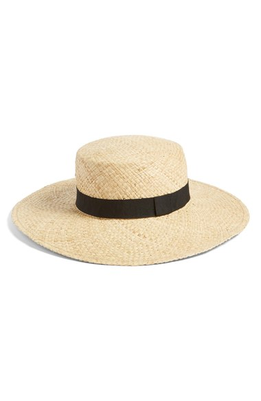 A simple boater hat seems like it could work, too. (via nordstrom)